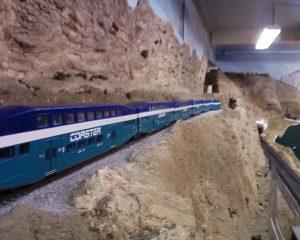 A photo of a ho scale train set