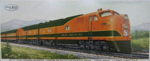 A photo of a ho scale train engine